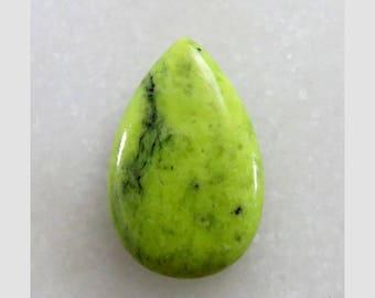 Green Serpentine Pear Shape Loose Gemstone Cabochon Jewelry Making Semi Precious Gemstone 29X18X5mm 18Cts B-14532