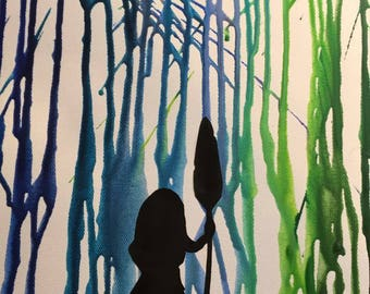 Moana crayon canvas
