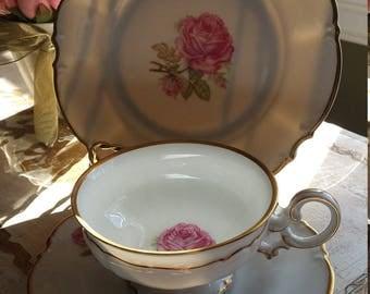 3 piece Hutschenreuther Tea Cup China set