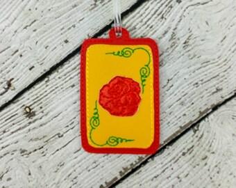 Rose Luggage Tag - Bag Tag