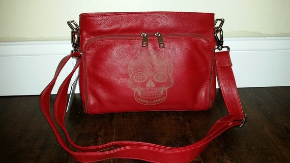 Unique Red Skull Pack and Carry Cross Body Purse
