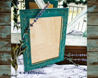 Rustic/ Glam/ Picture Frame/ Shabby Chic/ Cottage Chic/ Teal/ Gold/ 5x7