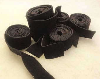 Real Suede Offcut Strips for Arts and Crafts