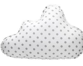 Pillow Cloud - Grey Dots