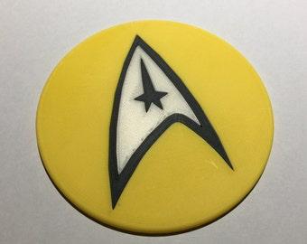 3D Printed Star Trek Command Coaster / Plaque