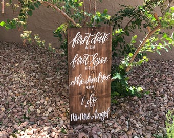 Our Love Story Sign  Out Love Story  Wooden Sign  Wedding Sign 