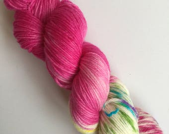 Orchid Mermaid Kisses Hand Dyed Yarn 100g DYED TO ORDER
