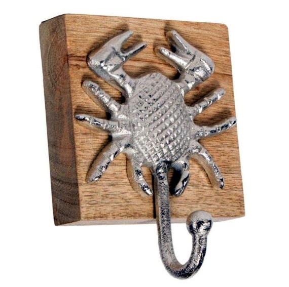Crab hooks, wall hooks, keychain holder, jewelry holder, Crab decor, nautical decor, beach decor, necklace holder