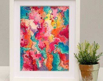 "Colorful prints ""Colours of love"" printable Wall art & home decor by Anna Wawrzyniak"