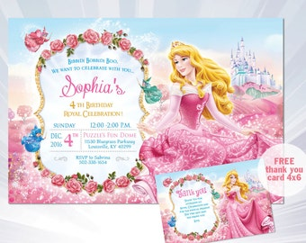 princess birthday card template