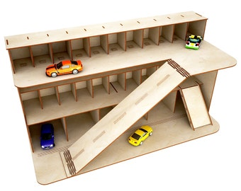 Parking deck, Garage,Doll house, wooden dollhouse, dollhouse kit, miniature, Dolls Miniatures
