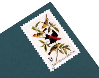 20 John James Audubon Stamps - 37c - Vintage Unused Postage from 2002 - Quantity of 25