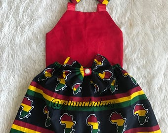African skirt/African babygirl clothes/baby set/ headwrap/Newborn clothes/African clothing/Ankara skirt/Kente Fabric/Girl skirt/