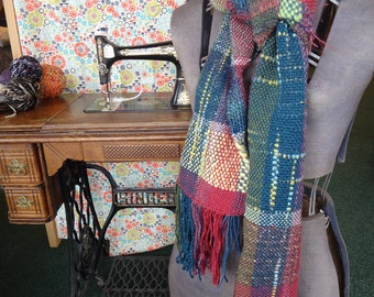 """Handwoven scarf """"Berry Marmalade"""""""