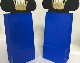 Prince Mickey Mouse Royal Loot Favor Goodie Bags Birthday Party Container Supplies