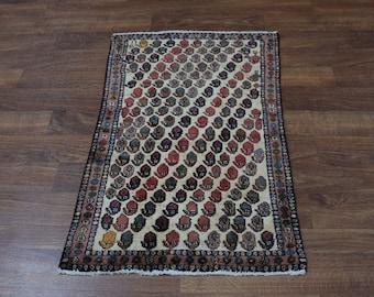 Exceptional Pattern Entrance S Antique Tabriz Persian Rug Oriental Carpet 2'5X3'
