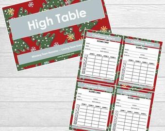 Christmas Bunco Printables