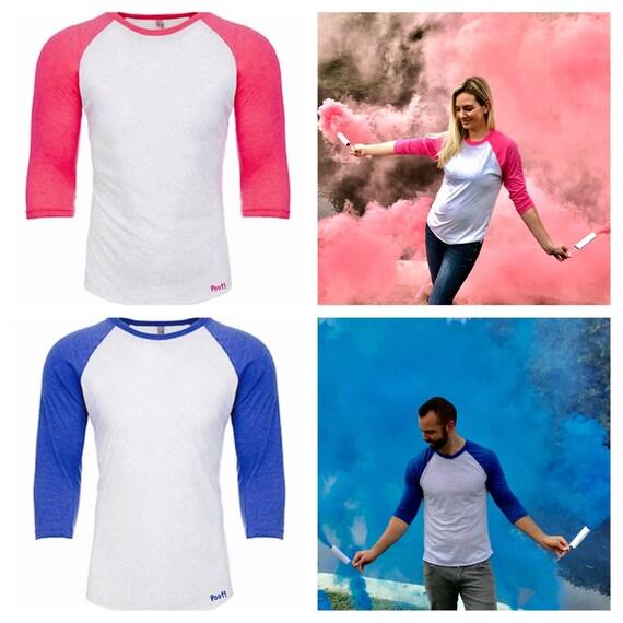 SUPER SOFT T-SHIRTS Pink or Blue Gender Reveal Shirt Super Soft Tri-Blend Gender Reveal Team Boy Team Girl Football Shirt