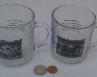 Vintage Set of 1982 Horse Racing Glasses, Santa Anita Park, John Henry's 2nd Big Cap, Bill Shoemaker, Drinking Glasses, Shelf Display, Horse