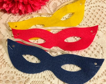 10 Pcs Multy- Color Masks SuperGirl Masquerade Party Favors