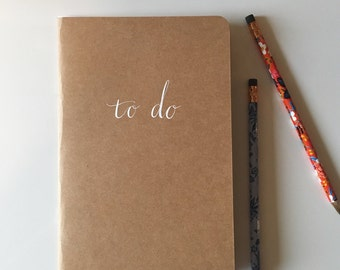 Craft Paper To Do Notebook