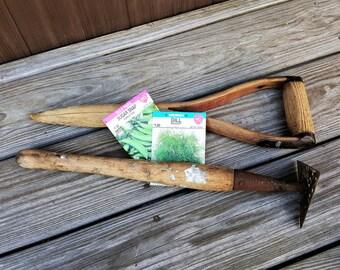 Dibble Dibbler Hand Held Hoe  Garden Tools