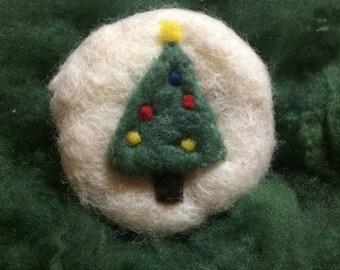 Merry Christmas Wool Scrubby