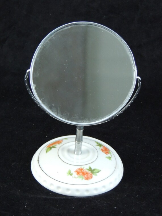 ice hair for small furniture, Antique decoration vintage porcelain mirror typical 60