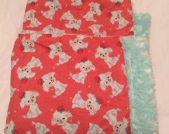 Sweet puppy blanket