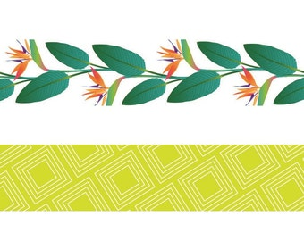 Set of decorative Masking Tape 2 leaves - tape - label Ribbon - Ribbon sticker - 11004620