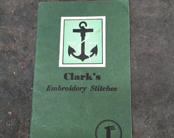 Vintage | Clark's | Embroidery Stitches | Book