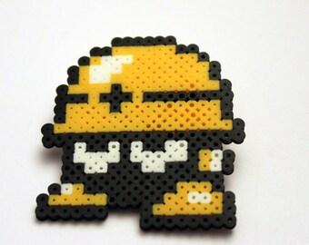Met Hat - Mega Man - Mini Perler Beads