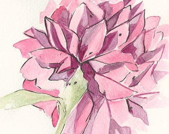 Watercolour - Carnation - Blessed