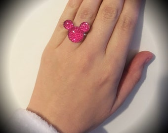 Pink Mickey Mouse Ears Ring Disney Costume Jewellery