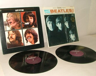 Vintage  Vinyl Records The Beatles Lot Of 2 Nice Set