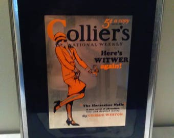 Vintage Colliers National Weekly Advertising Glass****1960's-1970's*******
