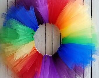 Rainbow Baby Tutu Skirt