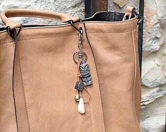 Handbag jewelry, with Tiki and Tahitian pearl