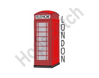 London Telephone - Machine Embroidery Design