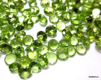10 pcs Lot 6mm PERIDOT Round Faceted gemstone AAA Quality green Peridot round faceted Peridot loose gemstone calibrated size peridot round
