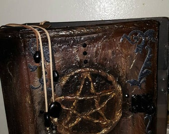 Hand made Grimoires /Book of Shadows blank. 4 in binder  Pics of different styles.These are standard three ring binders