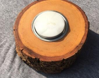 Handmade Wooden Tea Light / Candle Holder