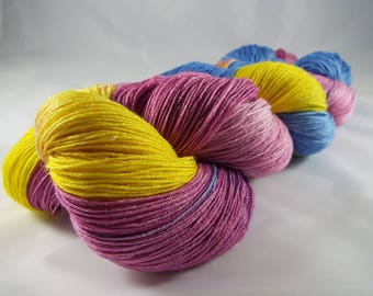 hand-dyed lace yarn Merino and silk