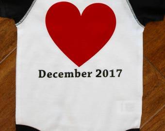 Pregnancy Announcement Bodysuit, New Baby Bodysuit,