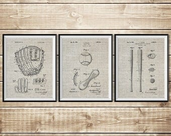 Baseball Sign, Patent Print Group, Baseball Bat Art, Baseball Art Poster, Baseball Art Set, Baseball Printable, Baseball, INSTANT DOWNLOAD