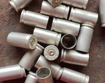 9mm Aluminum - Set of 50 - Spent Bullet Casings - Luger 9mm Casings - Found in Nature - Wyoming Rockies - Jewelry Supply - Bullet Jewelry