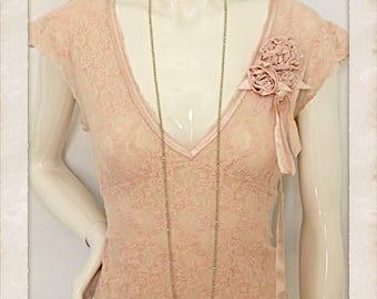 Vintage Antique Pink Top