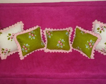 Doll pillows Barbie size 1:6 scale doll house decor
