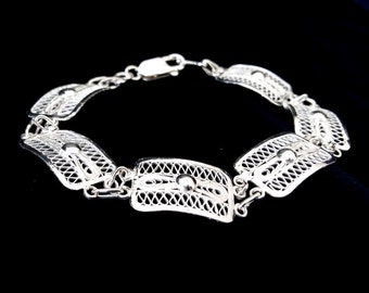 Sterling Silver Filigree Bracelet Cristiana, Silver Bracelet, Filigree, Filigrana Cordobesa, Handmade Bracelet, Silver Jewelry, Gift Idea