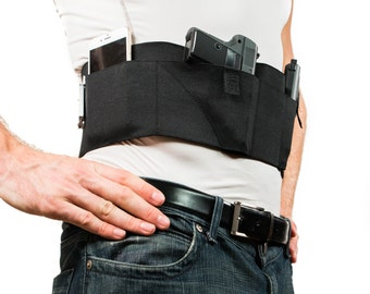 GrayStone Belly Band Waistband Holster for Concealed Carry | Black | CCW Clothing For Men and Women